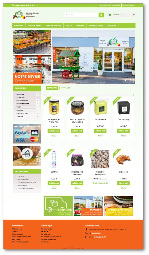 zinefrais.fr une épicerie en ligne utilisant la technologie Pos2web.fr by polykode.fr